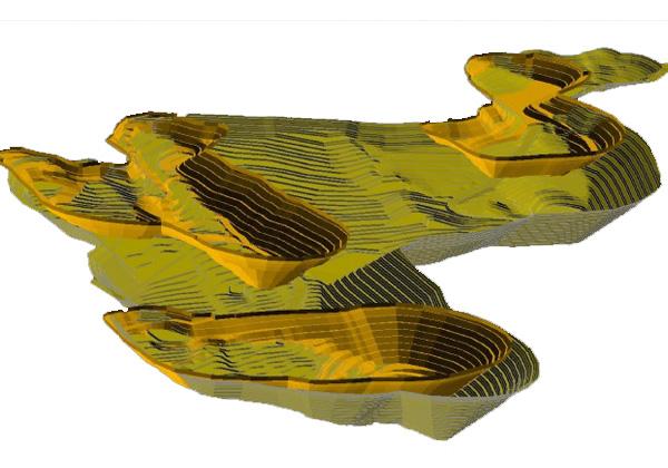 ماده معدنی-مدلسازی-حفریات