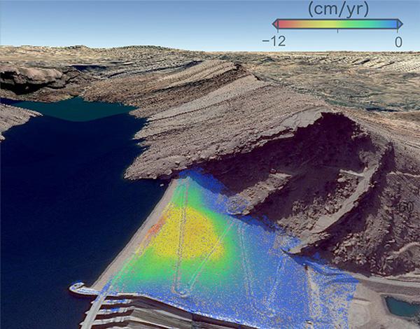 فرونشست سد-تغییر شکل زمین-تداخل سنجی