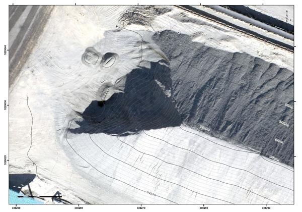 حجم سنجی دپو-معدن-پهپاد