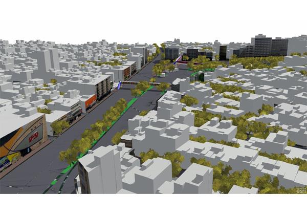 مدل سازی سه بعدی-مدل رقومی سطح-برنامه ریزی شهری