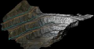 مدل سه بعدی معدن