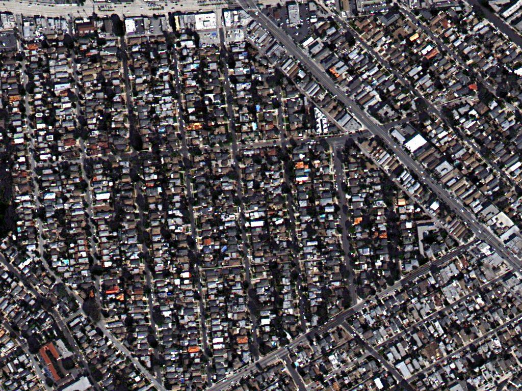 تصویر TripleSat با رزولوشن 1 متر، لس آنجلس