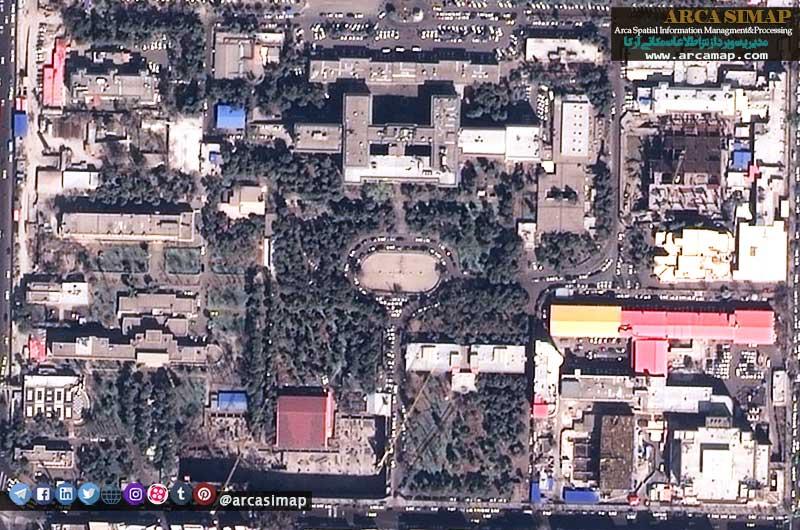 تصویر ماهواره ای تهران