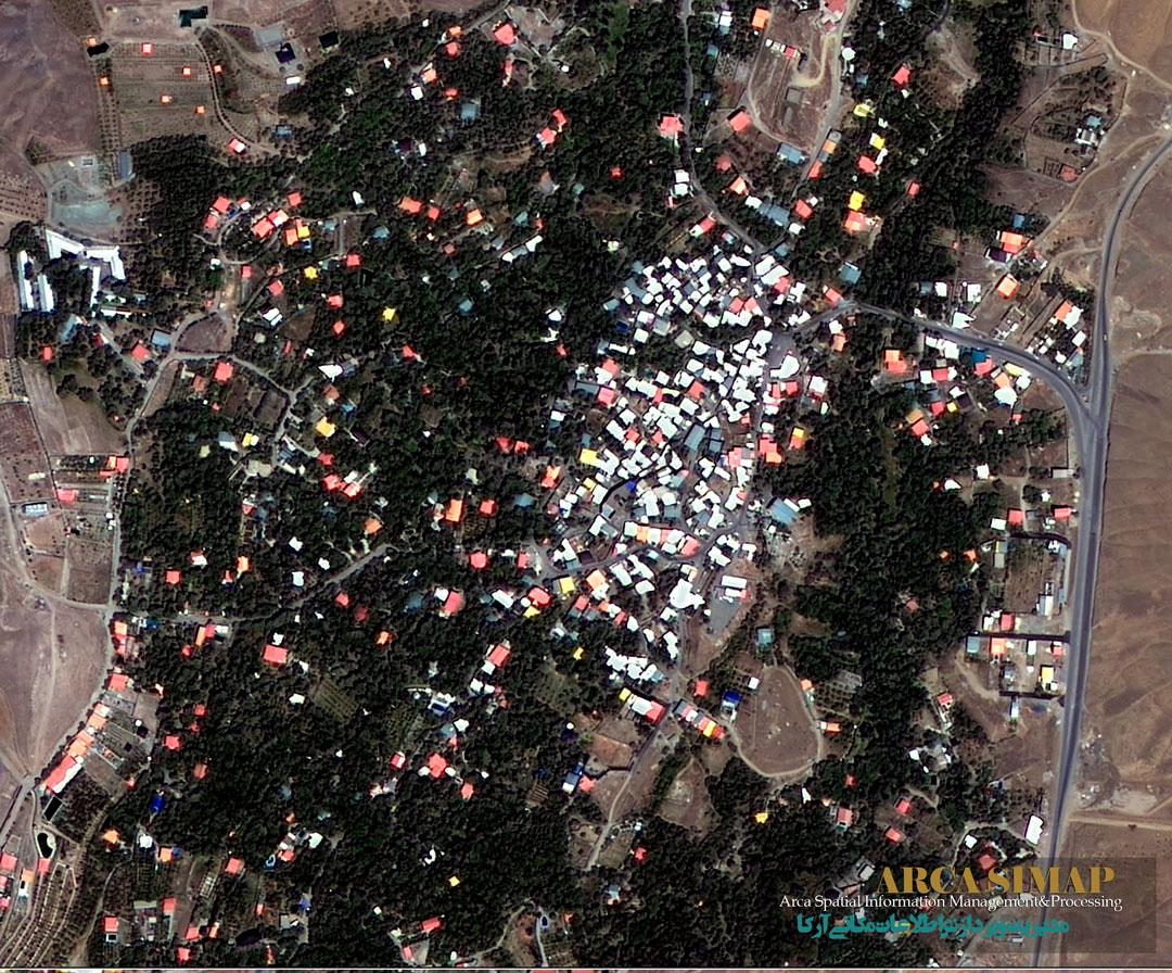 تصویر ماهواره ای آجین دوجین