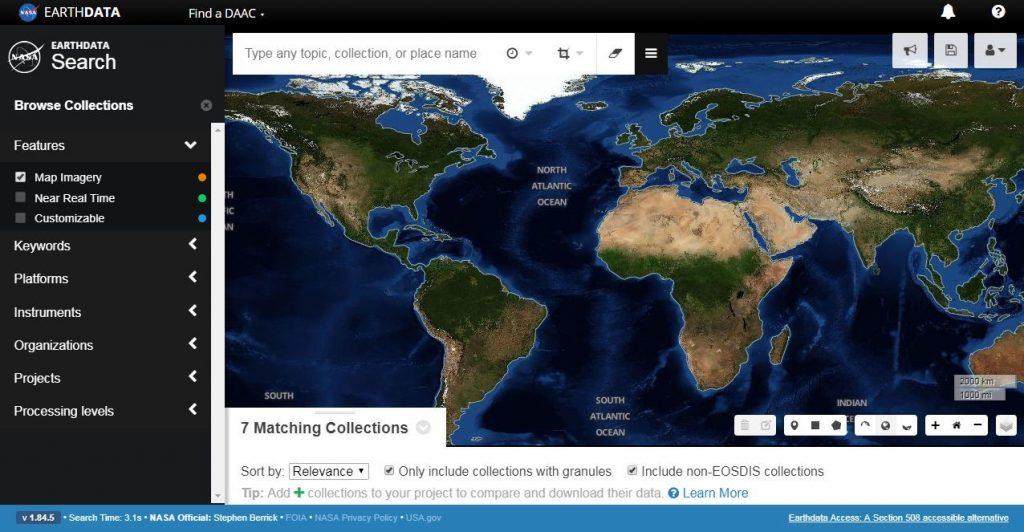 دانلود رایگان تصاویر ماهواره ای از Nasa Earth Data
